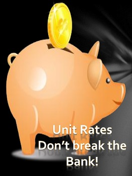 Unit Rates Discovery Lesson