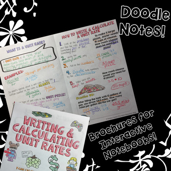 Unit Rates - Decorated Notes Brochure for Interactive Notebooks