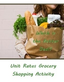 Unit Rates Grocery Shopping Activity