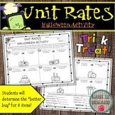 Unit Rates Halloween Activity (Better Buy)