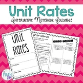 Unit Rates Interactive Notebook Foldable