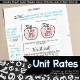 Unit Rates Lesson for Interactive Notebooks | TEKS 6.4b