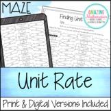 Unit Rates Maze
