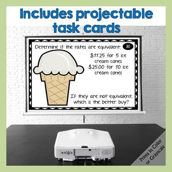 Unit Rates - Mini Lesson & Task Cards