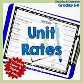 Unit Rate Task Cards and Mini Lesson