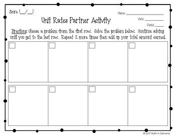 Unit Rates Partner Activity