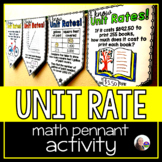 Unit Rates Math Pennant Activity