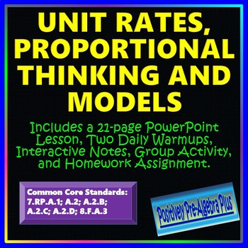 Unit Rates, Proportional Thinking, and Models Unit