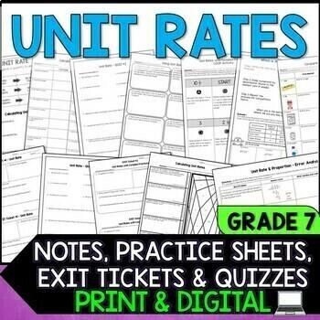 Unit Rates - Quick Checks