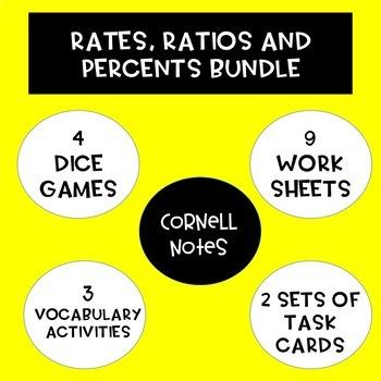 Unit-Rates, Ratios and Percent Change BUNDLE!