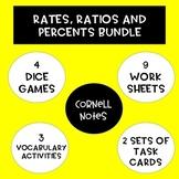 Unit Rates, Ratios and Percent Change BUNDLE!