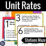 Unit Rates Stations Maze Activity 6.RP.2