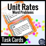 Unit Rates Word Problem Task Cards 6.RP.2