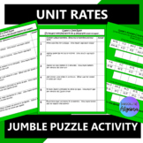 Unit Rates:  Word Problems $100,000 Pyramid Game Activity