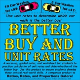 Unit Rates and Better Buy / Better Deal Practice (warmup,