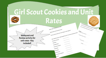Unit Rates and Girl Scout Cookies