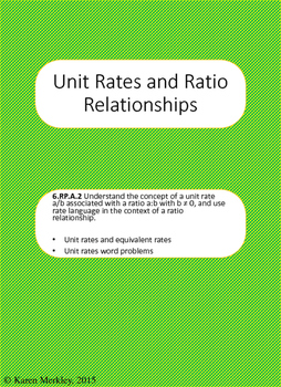 Unit Rates and Ratio Relationships