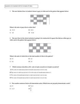 Unit Rates and Ratios 6th Grade Unit Exam