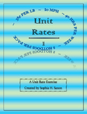 Unit Rates and Ratios Too