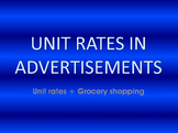 Unit Rates in Advertisements