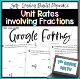 Unit Rates involving Fractions- for use with Google Forms