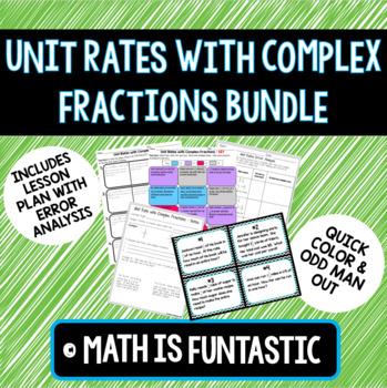 Unit Rates with Complex Fractions Bundle