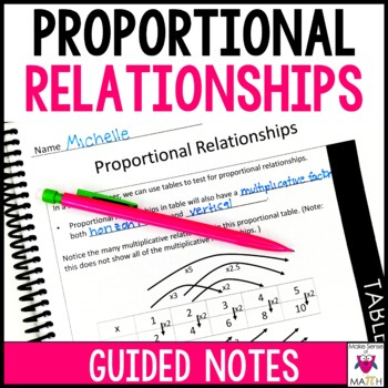 Proportional Relationships Guided Notes - Proportional Relationships Notes
