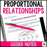 Proportional Relationships Guided Notes - Proportional Rel