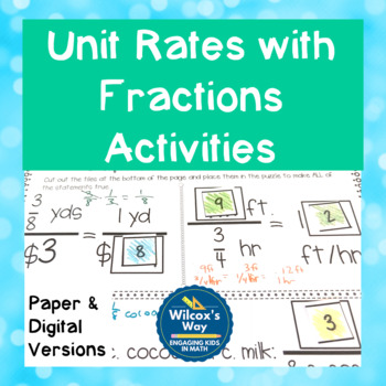 Unit Rates with Fractions Activities