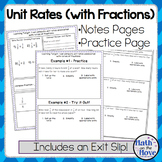 Unit Rates with Complex Fractions - Notes and Practice (7.RP.1)
