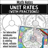 Unit Rates (with fractions) Math Wheel