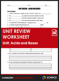 Unit Review - Acids and Bases - Distance Learning