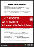 Unit Review - Atoms and the Periodic Table - Distance Learning
