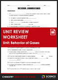 Unit Review - Behavior of Gases or Gas Laws - Distance Learning