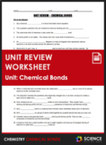 Unit Review - Chemical Bonds + Answer Key