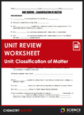 Unit Review - Classification of Matter - Distance Learning