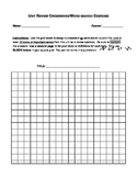 Unit Review Crossword/Word Search