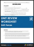 Unit Review - Forces - Distance Learning