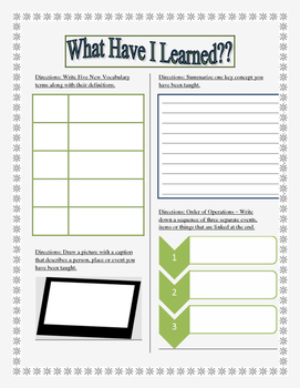 Unit Review: Formative assessment for all subject areas!