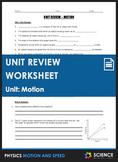 Unit Review - Motion