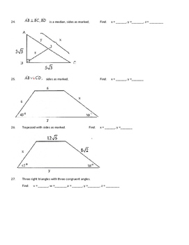 Unit Review: Right Triangles and Right Triangle Trig