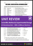 Unit Review - Scientific Method & Experimental Design - Di