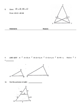 Unit Review: Triangle Similarity