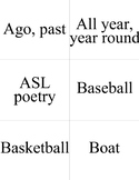 Unit Six ASL Flashcards