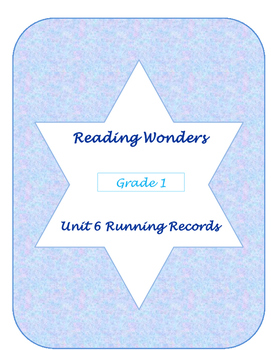 Unit Six Reading Wonders Running Records