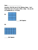 Unit Squares Finding the Area of a Shape Quiz