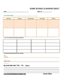 Unit Study Interactive Planner for a 2 week period