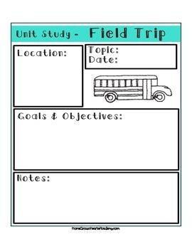 Unit Study Planner