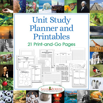 Unit Study Planner and Flexible Unit Study Printables - Thematic Unit Planning
