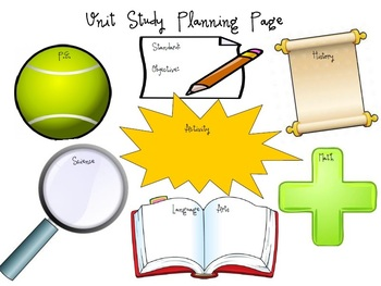 Unit Study Planning Page